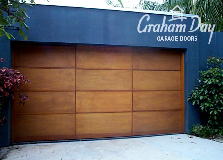 Graham day garage doors image gallery view image for Wood veneer garage doors